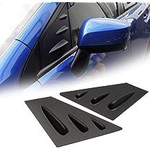 ITrims for Mazda 3 M3 Axela 2014-2018 Auto Rear Car Side Window Louvers Vent Cover Trim Decorative 2PCS Carbon Fiber