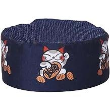 Blue-2 Black Temptation Japanese Style Hat Sushi Shop Chef Hat Waiter Hat Kitchen Hat
