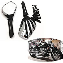 Krator 2pcs Black Heavy Duty Motorcycle Turn Signals Finned Grill Scalloped Blinkers For Suzuki Boulevard M109R M50 M90 M95