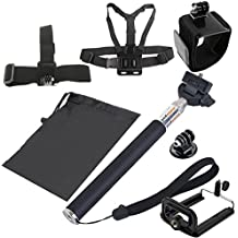 Head Strap Seatpost Pole Mount Set for GoPro HERO7 //6//5 //5 Session //4 Session //4//3+ //3//2 //1 Carry Bag Wrist Belt 38 in 1 Chest Belt Floating Bobber Monopod Xiaoyi and Other Acti Screws