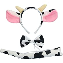 Kids Plush Spotted Cow Ear Soft Headband The Beistle Co.