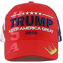 2019 Donald Trump Mega Red Hat Make America Great Again Embroidered Cap US Flag