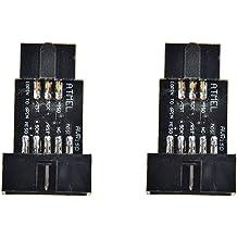 2Pcs 10Pin Convert To Standard 6 Pin Adapter Board F ATMEL STK500 AVRISP USBASP