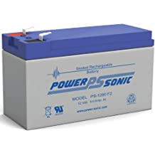 Powersonic PS-1220-12 Volt//2.5 Amp Hour Sealed Lead Acid Battery with 0.187 Fast-on Connector