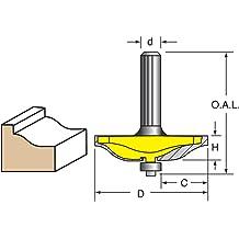 Raised Panel Bit Door Construction Woodtek 944594 Raised Panel /& Backcutters 1//4 Shank Router Bits
