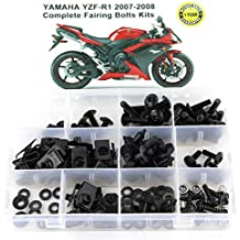 for KAWASAKI ZX-10R 2011 2012 2013 2014 2015 2016 2017 2018 2019 Xitomer Full Sets Fairing Bolts Kits Mounting Kits Washers//Nuts//Fastenings//Clips//Grommets silver