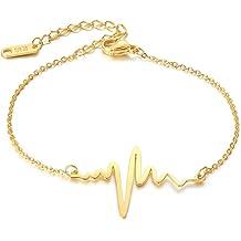 VNOX 7MM//4MM Stainless Steel Triple Moon Goddess Pentagram Thin ID Bracelet for Men Women,8.8,3 Color