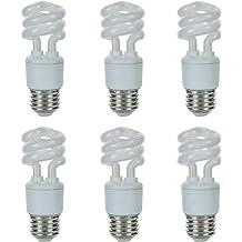 Sunlite 41154-SU Compact Fluorescent T2 Spiral Standard Household Energy Saving CFL Light Bulb 2700K-Warm Warm White 27K GU24 Base 75W Eqivilant 6 Pack 18 Watt,