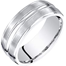 Peora Black Striped 6mm Mens and Womens Stainless Steel Ceramic Wedding Band Ring Available in Sizes 5 to 13