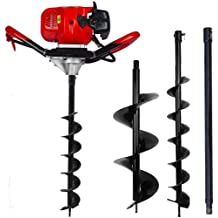 """4pcs 4/"""" 6/"""" 8/"""" Earth Auger Drill Bit Replacement for Gas Power Post Hole Digger"""