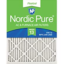 Nordic Pure 18x25x2 MERV 10 Pleated AC Furnace Air Filters 3 Pack 3 PACK 3 PACK