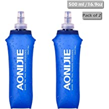 AONIJIE TPU Folding Soft Flask SportS Water Bottle for Running Camping HiO NMHWC
