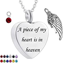 WK Dad Heart /& Peace Dove Stainless Steel Memorial Urn Necklaces to Put Cremation Ashes in