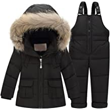 ZPW Newborn Baby Winter Hooded Down Snowsuit with Gloves and Footies