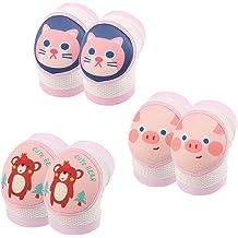 JooNeng Baby Toddler 3-Pack Soft Knee Pads for Crawling Walking Leg Elbow Protector