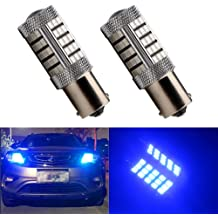 EverBright 10-Pack Super White 370Lums 1157 BAY15D 1016 1034 7528 1157A 2057 Base 18 SMD 5730 LED Replacement for Car Incandescence Bulb Brake Turn Lamp DC 12V