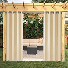 6Pack 50x120-in Waterproof Outdoor//Indoor Patio Curtains For Front Porch SkyBlue
