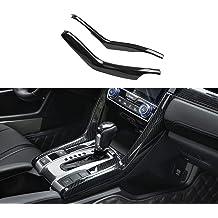 Kadore for 2018-2019 Tesla Model 3 Carbon Fiber Style Car Interior Steering Wheel Button Panel Decoration Cover Trim 3-pc