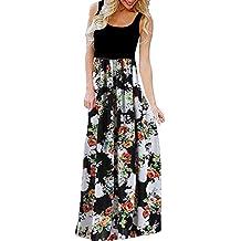 Spring Summer Casual Fashion Plus Size Big Wave Print Sleeveless Vest T-Shirt Tops Dress UOKNICE Dresses for Women