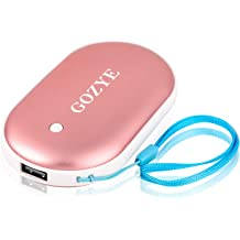 GOZYE Rechargeable Hand Warmer-5200mAh Power Bank,Larger Capacity Compatible with iPad iPhone Samsung