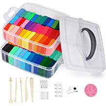 Complete Art Set for Children with 120 Projects Non Greasy /& Self Drying 27 x Molding Tools /& Accessories Soft Sculpting Airdry Multi Colored Clay Crafty Clay Air Dry Modeling Kit for Kids