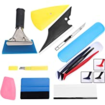 CHwares Vinyl Tinting Squeegee Kit for Car Windshield and Window Film Wrapping Decal Application with Water Wiper PP Squeegee and Utility Knife,Set of 6