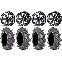 MSA Titanium Switch 20 ATV Wheels 33 Bogger Tires 9 Items 4x137 Bolt Pattern 10mmx1.25 Lug Kit Bundle