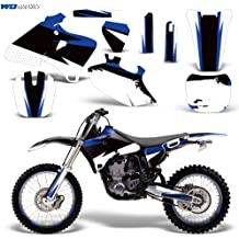 Wholesale Decals MX Dirt Bike Graphics kit Sticker Decal Compatible with Yamaha TTR230 2005-2016 Reaper V2 Blue