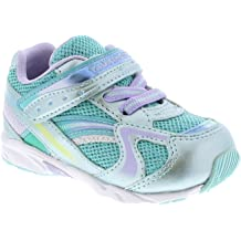 Tsukihoshi DASH 3583 041 Silver Light Blue Lace Up Washable Toddler Youth Shoes