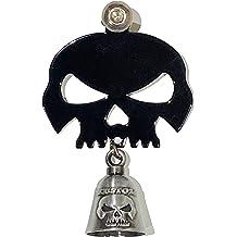 Blue Line Police Flag Skull Bell Hanger Mount Motorcycle Harley Bolt /& Ring