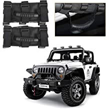 ZGBADMAN Water Cup Holder Cover Decoration Scratch Proof Stainless Steel Frame Trim for Jeep Wrangler JL 2018 Black