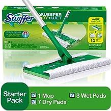 Swiffer Sweeper Cleaner Sèche Et Humide Mop Starter Kit Pour Le Nettoyage De Bois Franc Et Planchers Comprend 1 Mop 7 Chiffons Secs 3