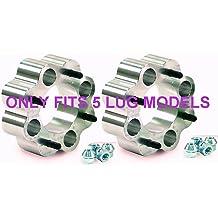 Full Set of 5x100 to 5x114.3 17mm Conversion Adapter Kit 56.1mm Bore Hubcentric 20pc Black Spline Duplex Locking 12x1.25 Lug Nuts /& 2 Key Sockets Compatible with Subaru
