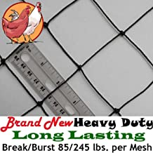 "Bird Block Netting Fence 6/' X 330/' UV .7/"" x 1/"" Mesh Poultry Aviary Quail"
