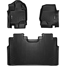 MAX LINER A0212//B0199 Custom Fit Floor Mats 2 Liner Set Black for 2015-2019 Ford F-150 SuperCab with 1st Row Bench Seat