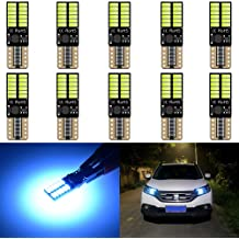 4pcs,Red KaTur 194 LED Light Bulb 800LM CANBUS Error Free 168 2825 W5W T10 24-SMD 4014 Chipsets LED Replacement Bulbs for Car Courtesy Dome Map Door License Plate Lights