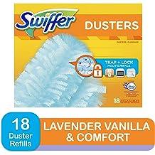 Swiffer 180 Dusters Recharges Multi Surface Avec Febreze Lavande Vanille Et Confort Parfum 18 Comte