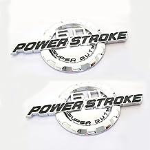 2x OEM 6.7L Powerstroke Emblems Badge Sticker Turbo Diesel Door For F250 F350