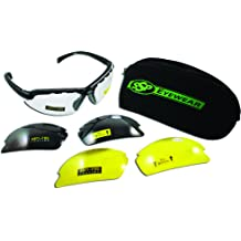 SSP Eyewear Safety Glasses with Military ACU Camo Frames and Amber Anti-fog Lenses YAKIMA AM A//F