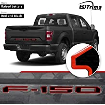 BDTrimsBlack Plastic Letters For Toyota Sequoia 2008-UP Rear Inserts