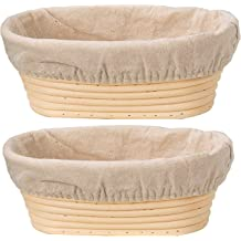 10 inch Proofing Baskets for Sourdough Home Bread Baking /& Professional Pastry Utensils Baking Tools Basket with Cloth Liner Set Liner 1pc Oval