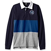 Youth Medium Outerstuff NFL Detroit Lions Youth Boys State of Mind Long Sleeve Rugby Top Black 10-12