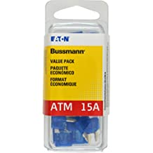 Red 10 Amp Fast Acting ATM Mini Fuse, VP//ATM-10-RP Bussmann Pack of 25