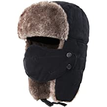 eb820a2f3f047 Connectyle Warm Trapper Hat Windproof Winter Russian Hats with Mask Ushanka  Hat