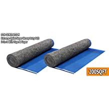 800 Square Feet AMERIQUE 691322305524 Platinum 800SQFT 4TH Generation Luxury 3.5MM Thick Flooring Underlayment Padding 3-in-1 Heavy Duty Foam with Tape /& Vapor Barrier Extreme Sound Reduction