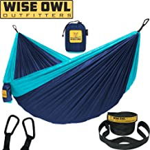 Wise Owl Outfitters Hamac Camping Double /& Simple Avec Arbre Bretelles-USA...