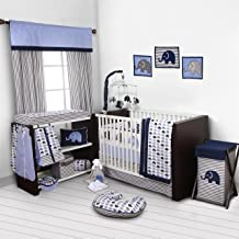 Bacati Love Baby A Countivity Gym with Mat  activity mat Blue and Gray Elephants