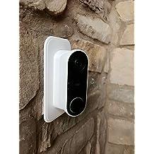 ABS Mat/ériel de montage dajustement Wall Plate Wedge Kit HOLACA Plaque murale compatible avec L35/°//R35 /° Wedge Nest Hello Video Doorbell noir