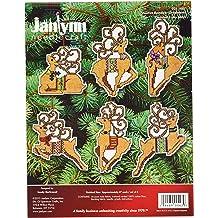 21-1062 Janlynn Retro Tree Mini Counted Cross Stitch Kit-2-1//4 X2-3//4 Oval 18 Count